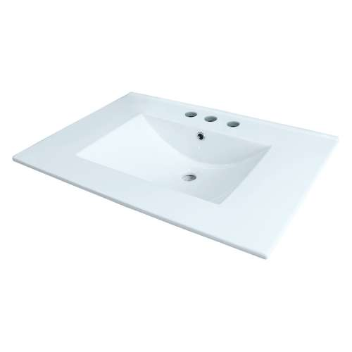 Samuel Mueller Jacob 25-in Vitreous China with Integrated Sink - 8cc Faucet Holes