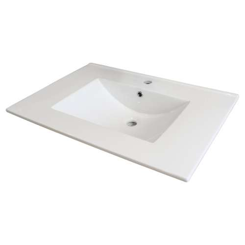 Samuel Mueller Jacob 31-in Vitreous China Vanity Top with Integrated Sink - Multiple Hole Configurations Available - SML-1701