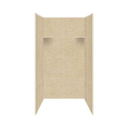 Samuel Mueller Luxura Solid Surface 60-in x 96-in Alcove Shower Kit - SMLKWF6067