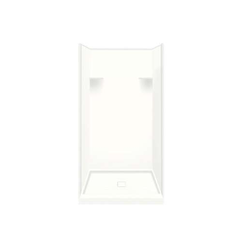 Samuel Mueller Luxura 36-in x 36-in x 75-in Solid Surface Alcove Shower Kit in White