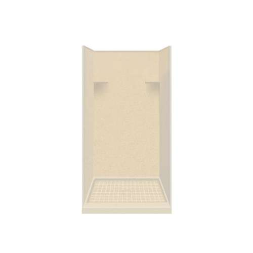Samuel Mueller Luxura 36-in x 36-in x 75-in Solid Surface Alcove Shower Kit in Sea Shore