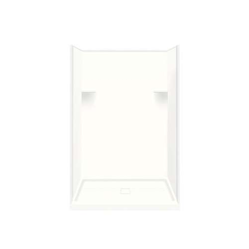 Samuel Mueller Luxura 34-in x 48-in x 75-in Solid Surface Alcove Shower Kit in White