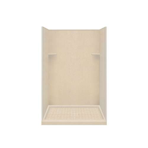 Samuel Mueller Luxura 34-in x 48-in x 75-in Solid Surface Alcove Shower Kit in Matrix Khaki