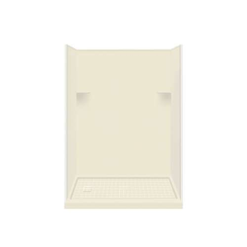 Samuel Mueller Luxura 30-in x 60-in x 75-in Solid Surface Left-Hand Alcove Shower Kit in Biscuit