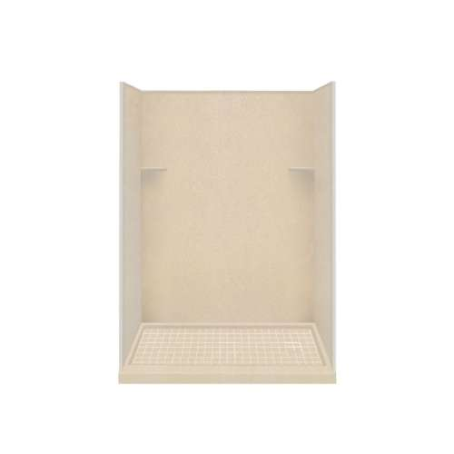 Samuel Mueller Luxura 30-in x 60-in x 75-in Solid Surface Right-Hand Alcove Shower Kit in Matrix Khaki
