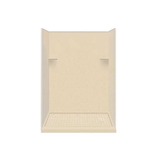 Samuel Mueller Luxura 30-in x 60-in x 75-in Solid Surface Right-Hand Alcove Shower Kit in Sea Shore