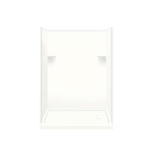 Samuel Mueller Luxura 32-in x 60-in x 75-in Solid Surface Right-Hand Alcove Shower Kit in White