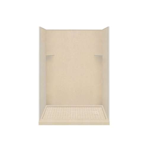 Samuel Mueller Luxura 32-in x 60-in x 75-in Solid Surface Right-Hand Alcove Shower Kit in Matrix Khaki