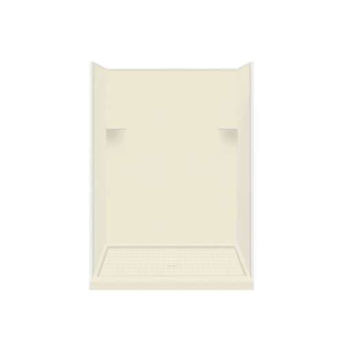 Samuel Mueller Luxura 36-in x 60-in x 75-in Solid Surface Alcove Shower Kit in Biscuit