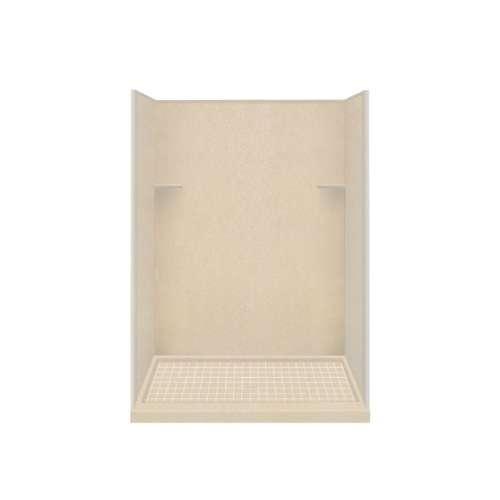 Samuel Mueller Luxura 36-in x 60-in x 75-in Solid Surface Alcove Shower Kit in Matrix Khaki