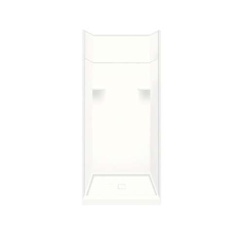 Samuel Mueller Luxura 36-in x 36-in x 99-in Solid Surface Alcove Shower Kit with Extension in White