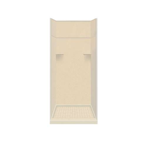 Samuel Mueller Luxura 36-in x 36-in x 99-in Solid Surface Alcove Shower Kit with Extension in Sea Shore