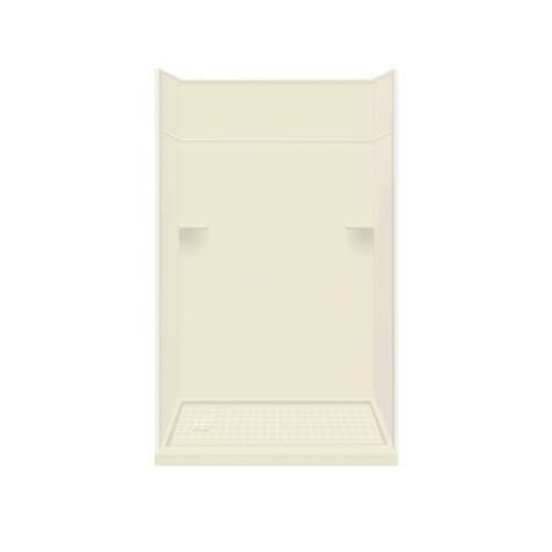 Samuel Mueller Luxura Solid Surface 60-in x 96-in Alcove Shower Kit with Extension