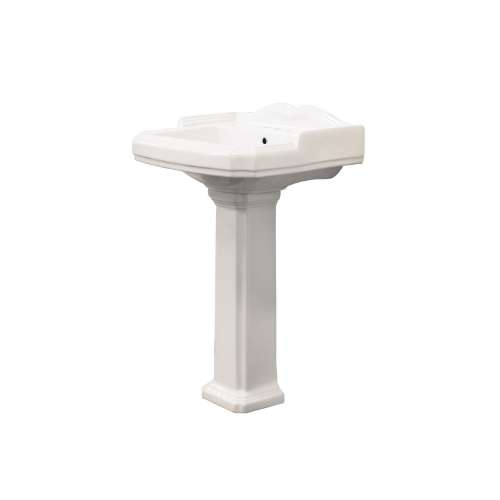 Samuel Mueller Hensley Vitreous China 22-in Pedestal Sink with 4-in CC Faucet Holes