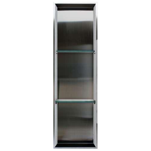 Samuel Mueller Monterey 14-in. Recessed Stainless Steel/Material Shower Storage Pod