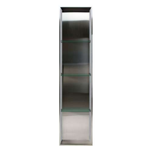 Samuel Mueller Monterey 14-in. Recessed Stainless Steel/Material Shower Storage Pod