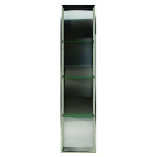Samuel Mueller Silhouette 14-in. Recessed Stainless Steel/Composite Material Shower Storage Pod