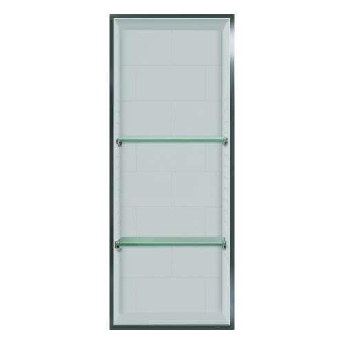 Samuel Mueller Monterey 14-in. Recessed Material Shower Storage Pod - In Multiple Colors - SMLSTV23414-SS-M1