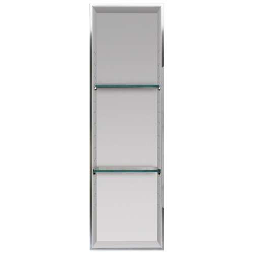 Samuel Mueller Luxura 14-in. Recessed Solid Surface Shower Storage Pod - In Multiple Colors - SMLSTV24614-SS-M2