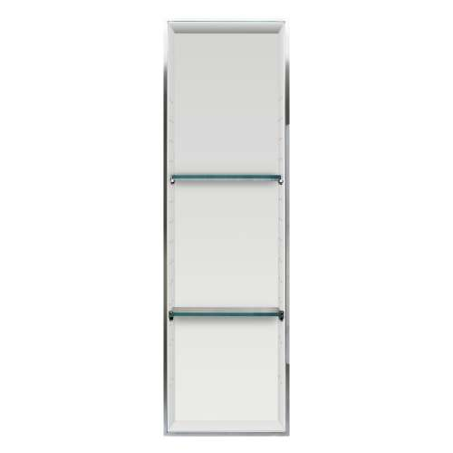 Samuel Mueller Silhouette 14-in. Recessed Composite Material Shower Storage Pod - In Multiple Colors - SMLSTV24614-SS-M3