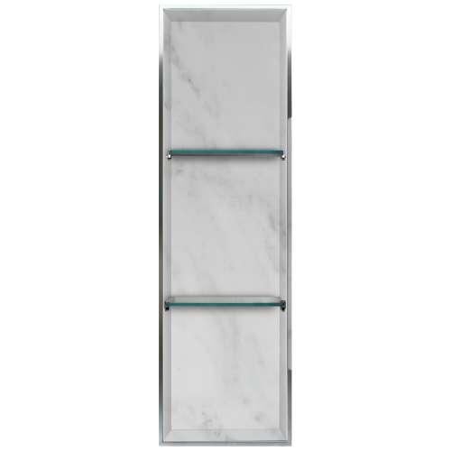 Samuel Mueller Luxura 14-in. Recessed Solid Surface Shower Storage Pod