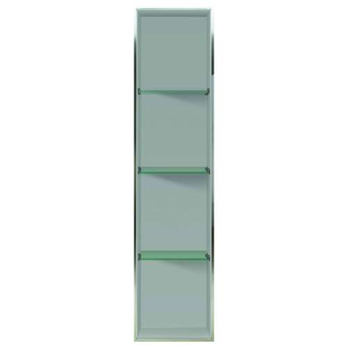 Samuel Mueller Luxura 14-in. Recessed Solid Surface Shower Storage Pod - In Multiple Colors - SMLSTV25814-SS-M2