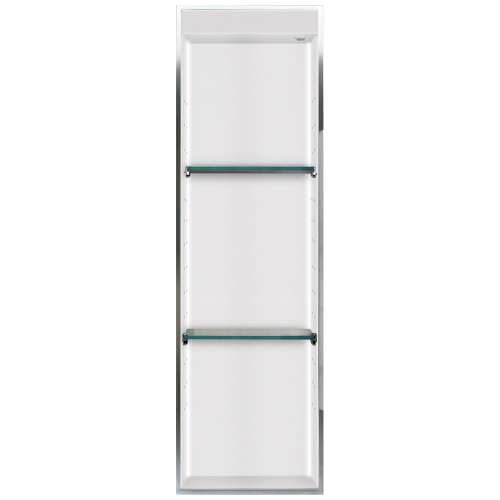 Samuel Mueller Luxura 14-in. Recessed Solid Surface Shower Storage Pod - In Multiple Colors - SMLSTVL4614-SS-M2