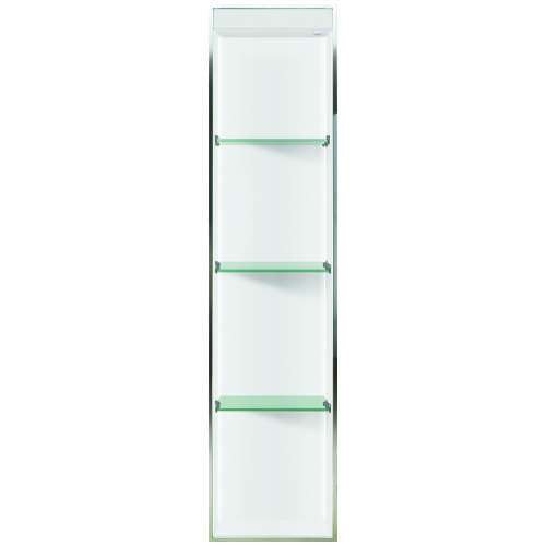 Samuel Mueller Luxura 14-in. Recessed Solid Surface Shower Storage Pod - In Multiple Colors - SMLSTVL5814-SS-M2