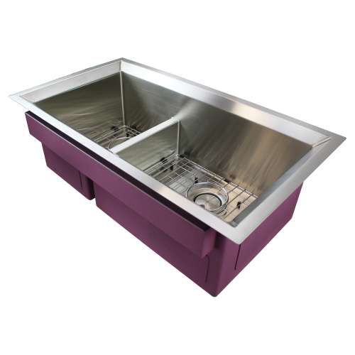 Samuel Mueller Luxura Stainless Steel 33-in Undermount Kitchen Sink