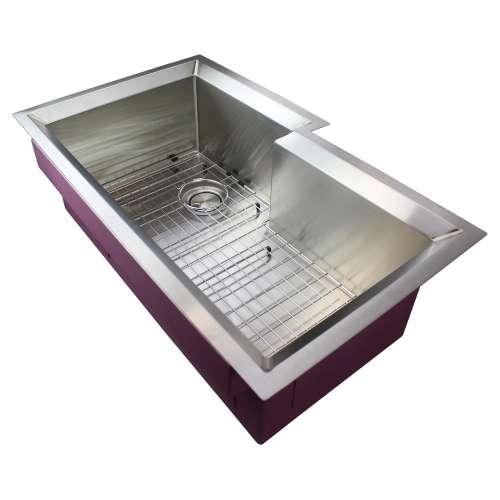 Samuel Mueller Luxura Stainless Steel 35-in Undermount Kitchen Sink