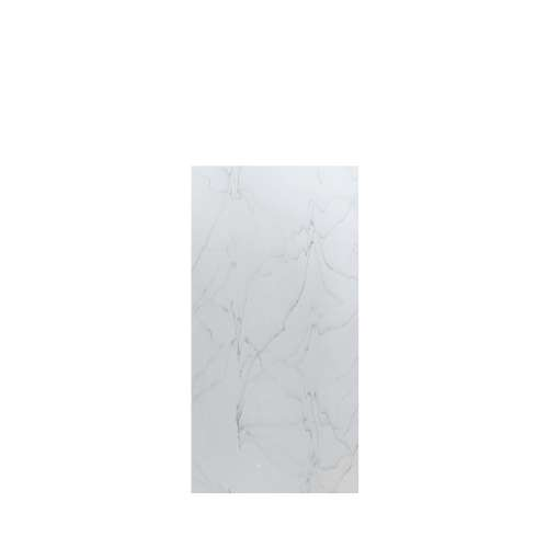 Luxura 36-in x 72-in Glue to Wall Tub Wall Panel, Palladium White