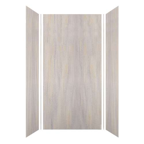 Luxura 48-in x 36-in x 96-in Glue to Wall 3-Piece Shower Wall Kit, Creme Brulee
