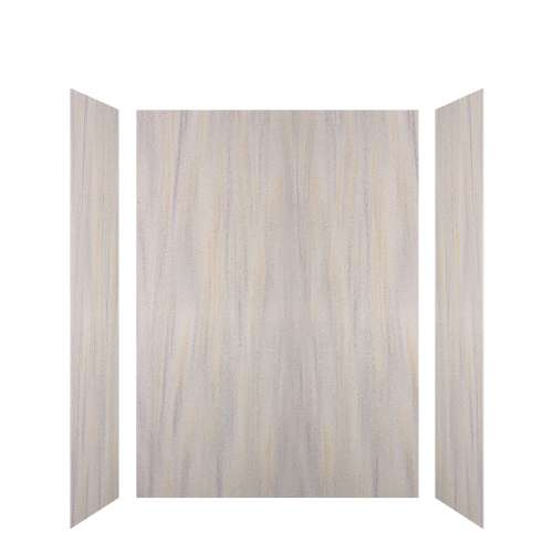 Luxura 60-in x 36-in x 84-in Glue to Wall 3-Piece Tub Wall Kit, Creme Brulee
