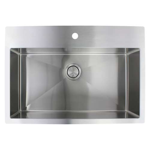 Samuel Mueller Monterey Stainless Steel 32-in Dual Mount Kitchen Sink - Multiple Hole Configurations Available - SMMTSS322210-M