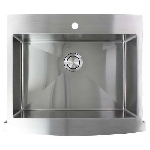 Samuel Mueller Monterey Stainless Steel 30-in Dual Mount Kitchen Sink - Multiple Hole Configurations Available - SMMTSSF302510-M