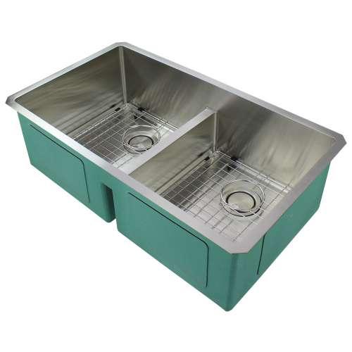 Samuel Mueller Monterey Stainless Steel 33-in Undermount Kitchen Sink