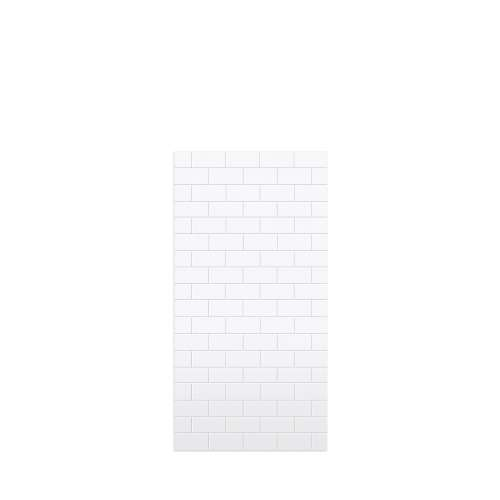 Monterey 36-in x 72-in Glue to Wall Tub Wall Panel, White/Tile