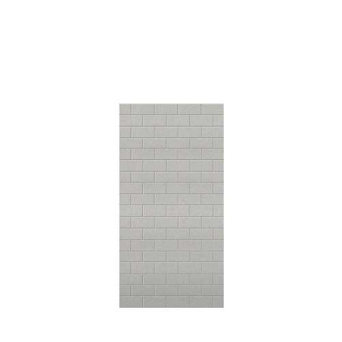 Monterey 36-in x 72-in Glue to Wall Tub Wall Panel, Grey Stone/Tile