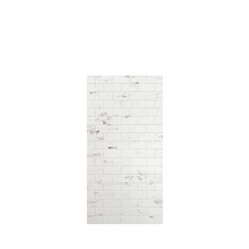 Monterey 36-in x 72-in Glue to Wall Tub Wall Panel, Carrara/Tile