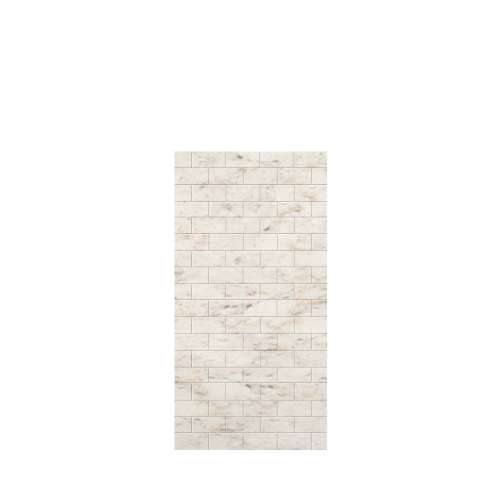 Monterey 36-in x 72-in Glue to Wall Tub Wall Panel, Butterscotch/Tile