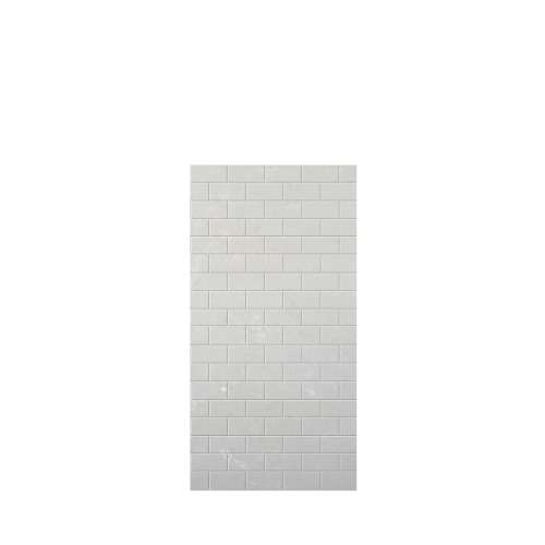 Monterey 36-in x 72-in Glue to Wall Tub Wall Panel, Moon Stone/Tile