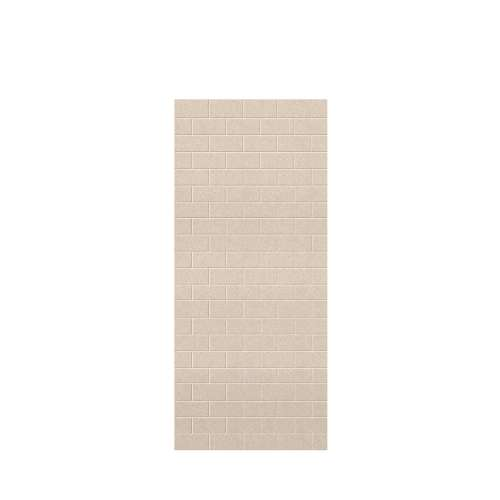 Monterey 36-in x 84-in Glue to Wall Tub Wall Panel, Butternut/Tile