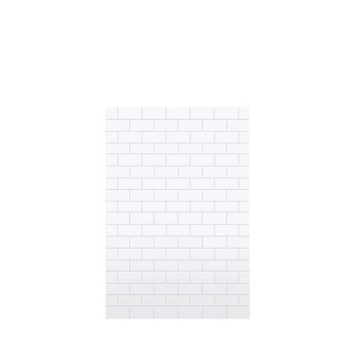 Monterey 48-in x 72-in Glue to Wall Tub Wall Panel, White/Tile