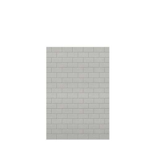 Monterey 48-in x 72-in Glue to Wall Tub Wall Panel, Grey Stone/Tile
