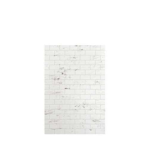 Monterey 48-in x 72-in Glue to Wall Tub Wall Panel, Carrara/Tile
