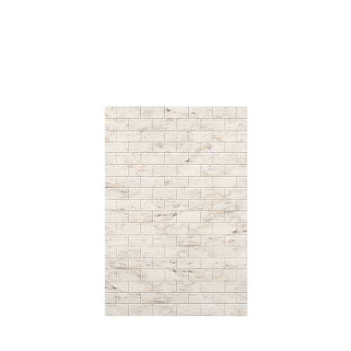 Monterey 48-in x 72-in Glue to Wall Tub Wall Panel, Butterscotch/Tile