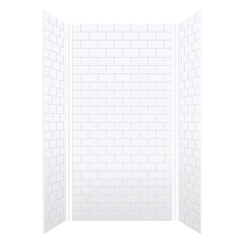 Monterey 48-in x 96-in Glue to Wall Wall Panel, White/Tile
