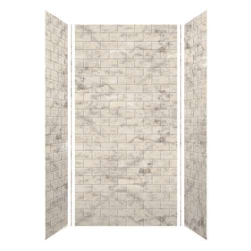 Monterey 48-in x 96-in Glue to Wall Wall Panel, Creme/Tile