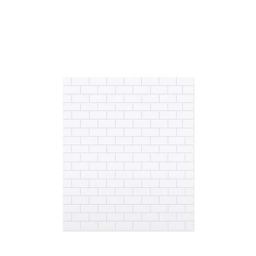 Monterey 60-in x 72-in Glue to Wall Tub Wall Panel, White/Tile
