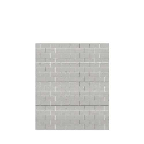 Monterey 60-in x 72-in Glue to Wall Tub Wall Panel, Grey Stone/Tile